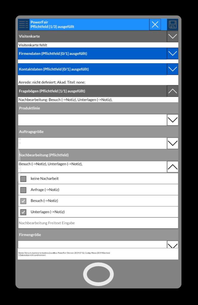 Messekontakterfassung: Hier mit dem Smartphone und PowerFair